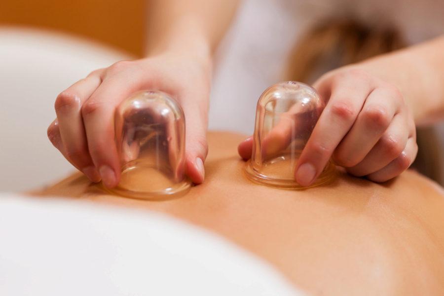 Rückenmassage mit Beauty Cups für zwei